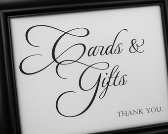 Wedding Sign, CARDS & GIFTS Sign, Wedding Signs, Reception Decor, Wedding Signage, Wedding Decorations, Receptions Signs