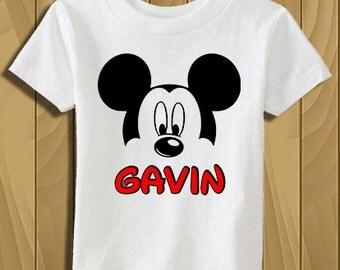 Mickey Mouse Personalized T-Shirt, Family Disney Vacation Shirts, Birthday Shirt, Custom T-Shirt