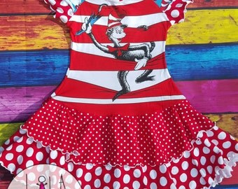 Cat in the Hat, Dr Seuss, Cat Dress, Cat in Hat Dress,