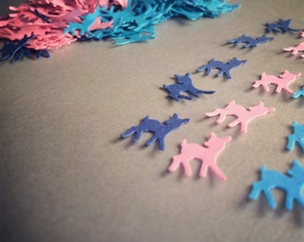 DOE Paper Punch, Doe Paper Die Cut, Paper Blue, Pink DOES,  Does for scrapbooking, Party decor, Baby Shower Confetti, PARTY confetti.