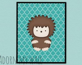 20% OFF Hedgehog, nursery art, hedgehog print, nursery decor, hedgehog art, nursery wall art, woodland nursery, nursery print, kids wall art