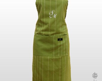 Adult Adjustable Apron with Personalized Monogram – Green