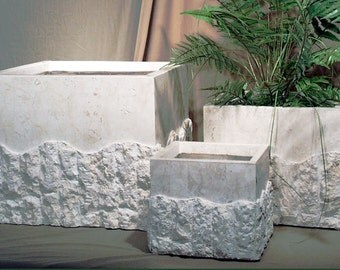 Square Rough and Smooth Planter