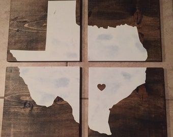 Large Texas wood sign (4 pieces)