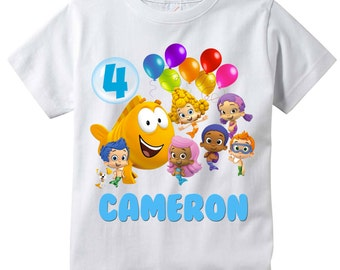 Bubble Guppies Personalized Birthday Shirt