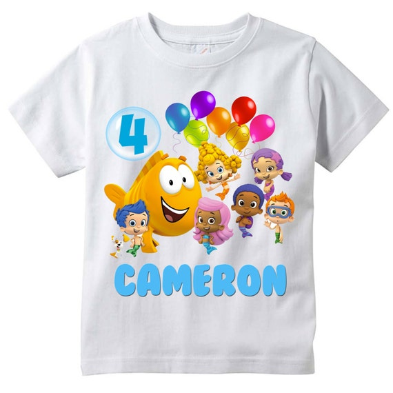 bubble guppies personalized birthday shirt by berrybesttees