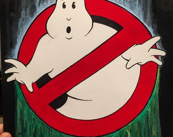 Ghostbusters logo - ink and water painting