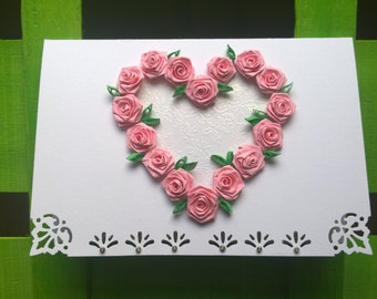 Love/Heart/Roses quilling card