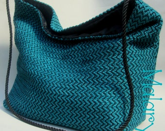 Blue Fortune Handwoven Bag