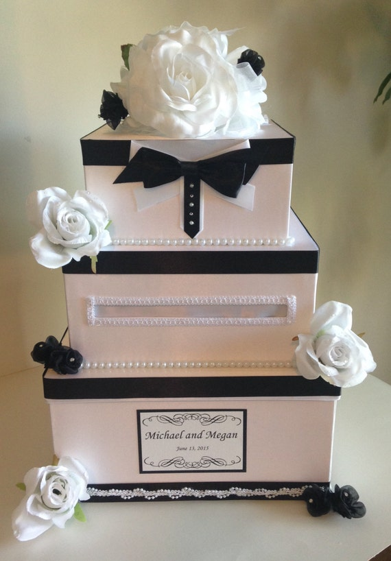 white wedding cake recipe from box items similar to wedding card box black and white wedding 27370