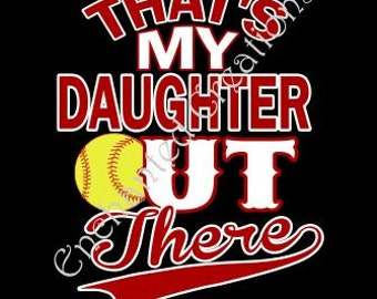 SVG file - Softball - That's My Daughter