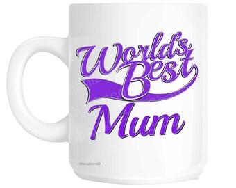 Mum World's Best Purple Mother's Day Novelty Gift Mug shan807