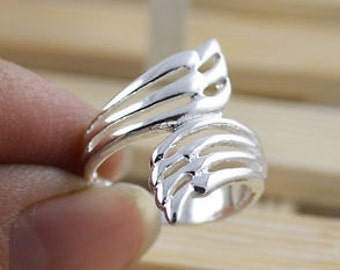 Sterling Silver Abstract Hollwed Out Ring