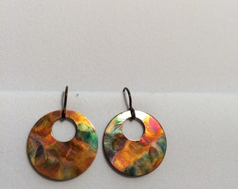 Flame painted earrings
