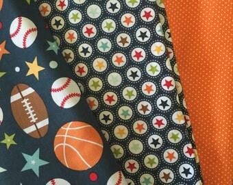 Sports Burp Cloth Set