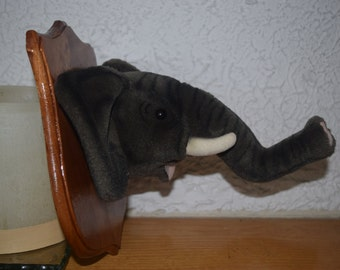 Edward the Elephant Stuffidermy! (faux taxidermy)