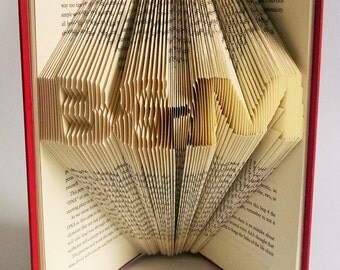 Folded Book Featuring Custom Initials - Great Gift for the Book Lover