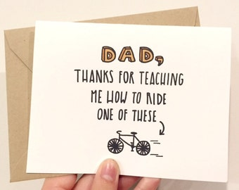 Riding a Bike Father's Day Card