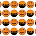 Pumpkin Cake Toppers, Pumpkin Cupcake Decorations, Halloween Toppers, Halloween Party, Spooky Theme