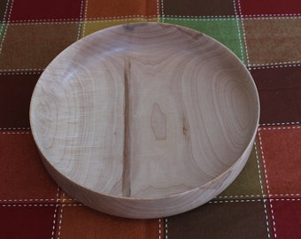 Large Sized Maple Wood Bowl