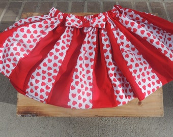 Valentine's Red Heart Skirt