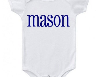 Personalized Monogrammed Onesie for Baby Boy Clothes Baby Boy Onesie Shirt Baby Gift