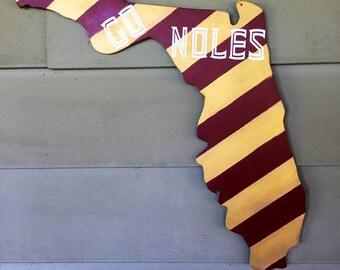 Florida State - Seminoles - ACC Football Wooden Door Hanger