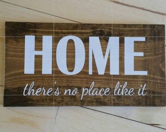 Home there's no place like it sign