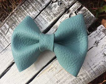 Large Leather Bow