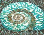MOVING SALE!  Lovely Turban Shell Canvas Floor Mat