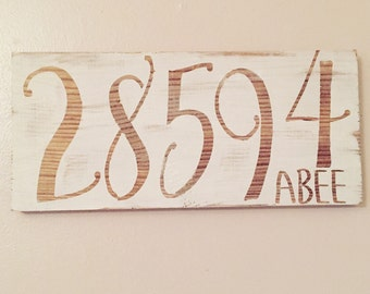 Zip Code sign with last name