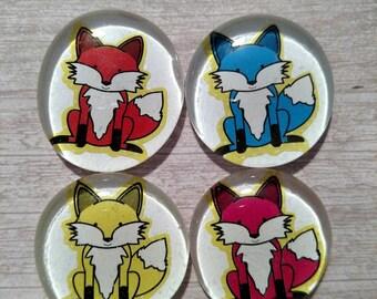 FOX magnets - LOCKER magnets - SCHOOL supplies - dorm decor - Fox decor - office supplies - glass magnets - strong magnets #3