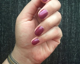 Wham! - Deep Purple/Cranberry Jelly Nail Polish - Holiday Gems Collection