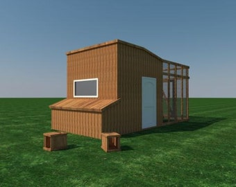 Chicken coop plans etsy Make your own hen house