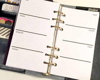 WO2P Lined - Undated - Personal Size Planner Inserts