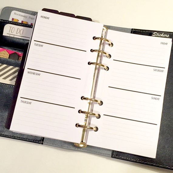 WO2P Lined - Undated - Personal Planner Inserts