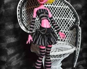 Striped black and transparent set for Monster High Gooliope