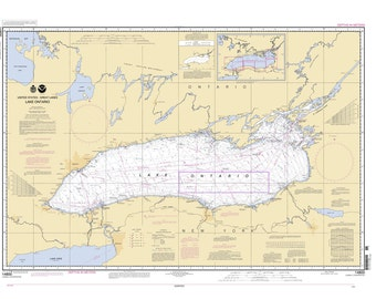 2005 Nautical Map of Lake Ontario