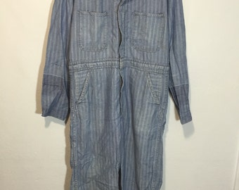 70's vintage herringbone work suit zip up mens size 38