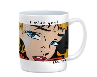 I Miss You! 11 oz or 15 oz Coffee Mug, Love, Forgive, Heart break