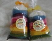 Naturally Dyed Wool Roving - Potpourris, 100g, Merino. Romney or Alpaca wool