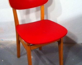 50s Chair with red seat