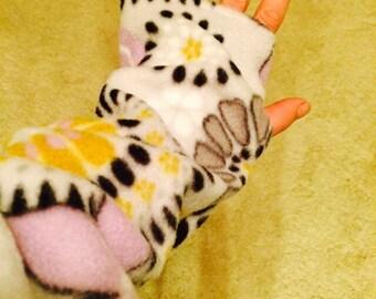 Lavander abstract Fleece Arm Warmer