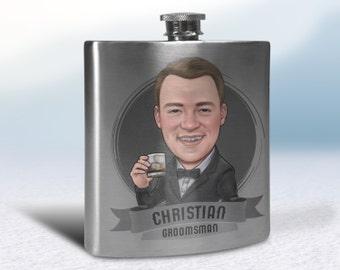 personalized flasks for groomsmen, Best Man Flasks, mens flasks, wedding flasks, flask alcohol, stainless steel hip flask