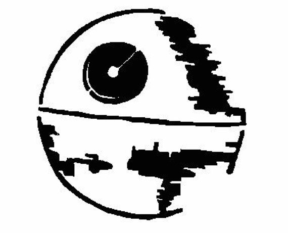 Death Star Stencil Star Wars Digital By BestEmbroideryCo