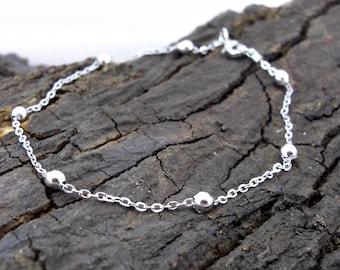 Bracelet beads beads glass beads silver foil
