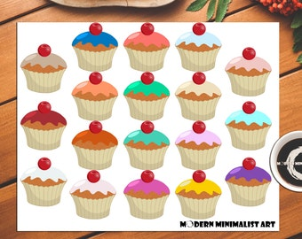 18 PNGS, Cupcakes, Muffins, Treats, Cupcakes, Muffin Clipart, Sweets, Desserts, Dessert Clipart, Clipart, Frosted Muffins, Treats and Sweets