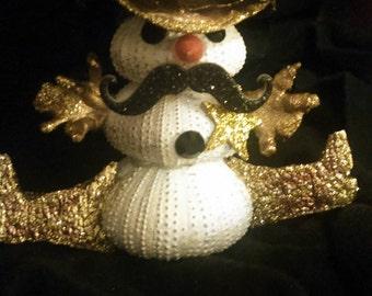 Sea urchin Sheriff Snowman ornament