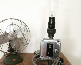 Industrial Pipe Lamp/USB Outlet- The Knox