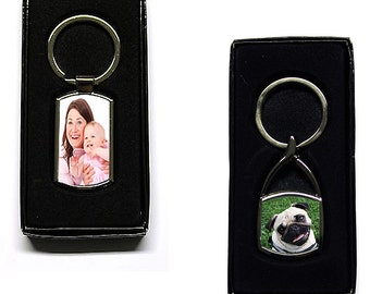 Full Colour Photograph Printed Metal KeyRing Gift Boxed NOT Paper Insert